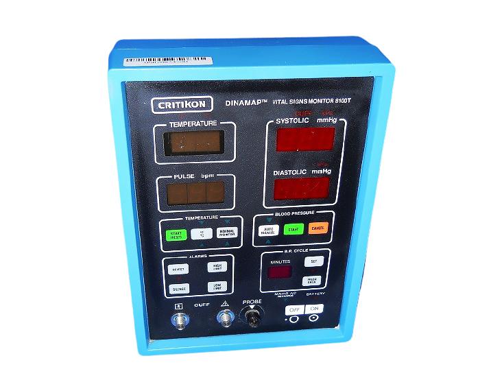 GE Critikon Dinamap 8100T Vital Sign Patient Monitor - Screen