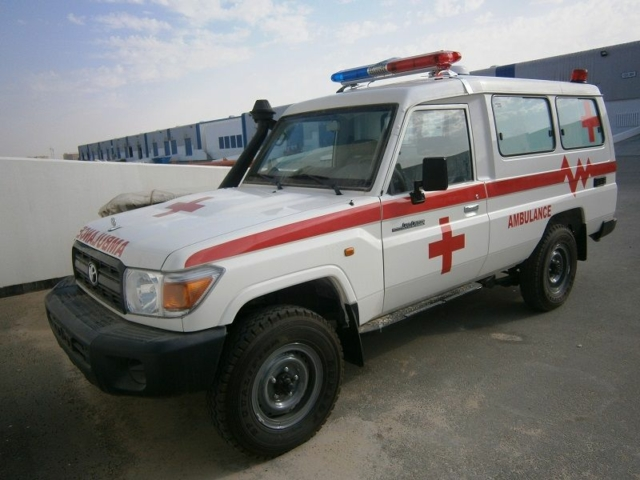 Toyota Landcruiser 4X4 Diesel Ambulance (NEW) Euro 2 Only Outside Europe!