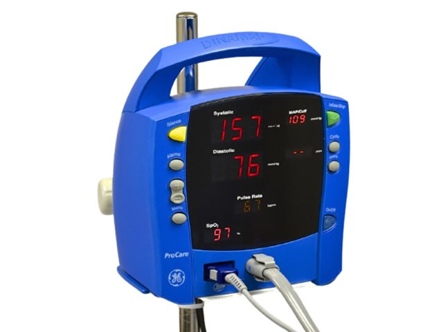 GE Dinamap ProCare Auscultatory Vital Signs Monitor + Stand (Refurbished)