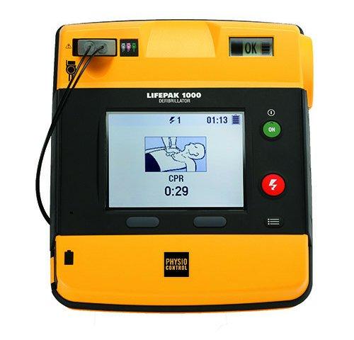 Physio-Control LIFEPAK 1000 AED Defibrillator – met 3-Kanaals ECG Kabel (Gereviseerd)