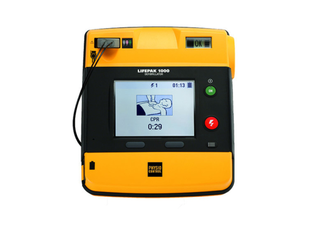Physio-Control LIFEPAK 1000 AED Defibrillator – with ECG (Refurbished)
