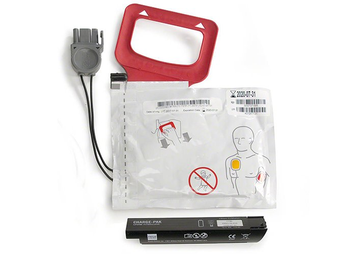 Physio-Control Lifepak Express AED - Pads & Charge Pak)
