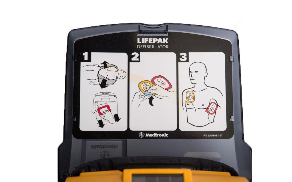 Physio-Control LIFEPAK CR Plus AED - Lid Instructions