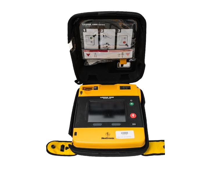 Physio-Control Lifepak 1000 AED Defibrillator - Bag Open